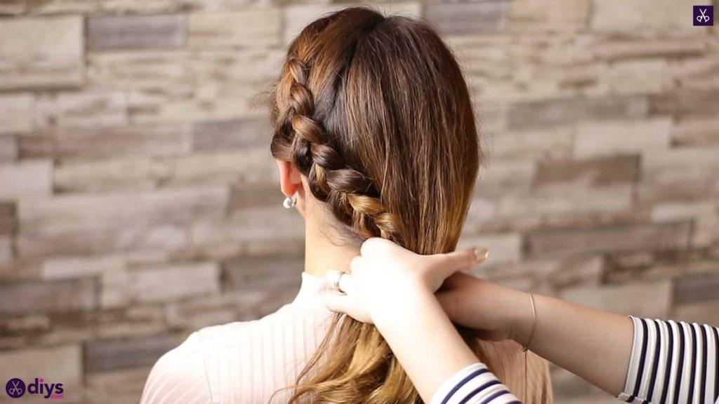 Elegant side braid hairstyle step 6b