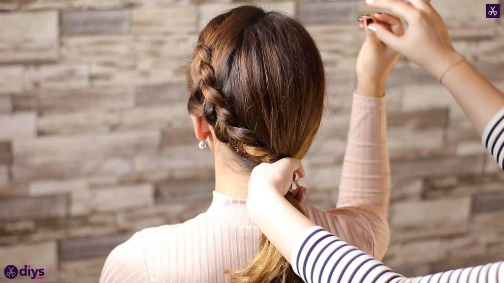 Elegant side braid hairstyle step 6c