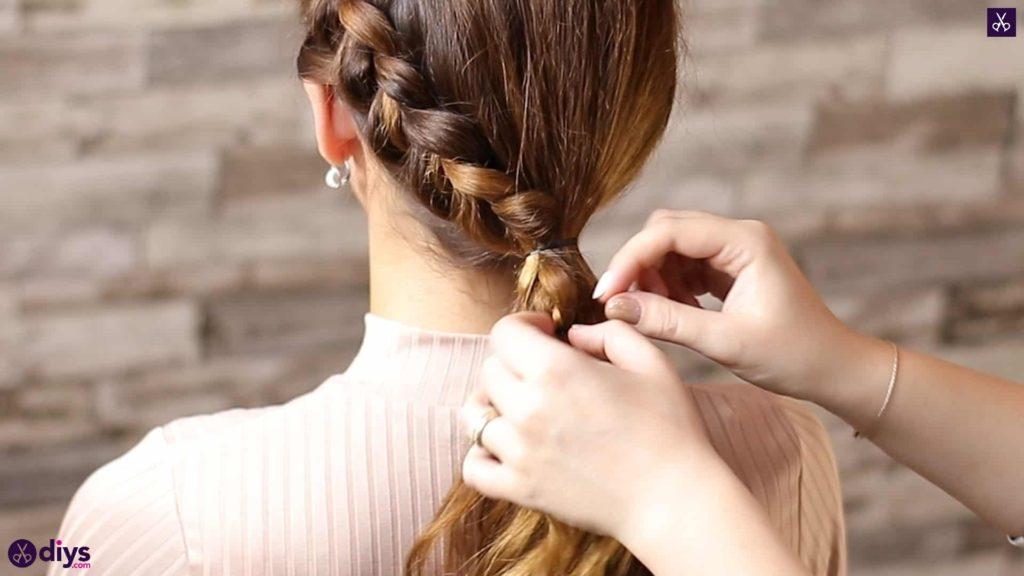 Elegant side braid hairstyle step 7a