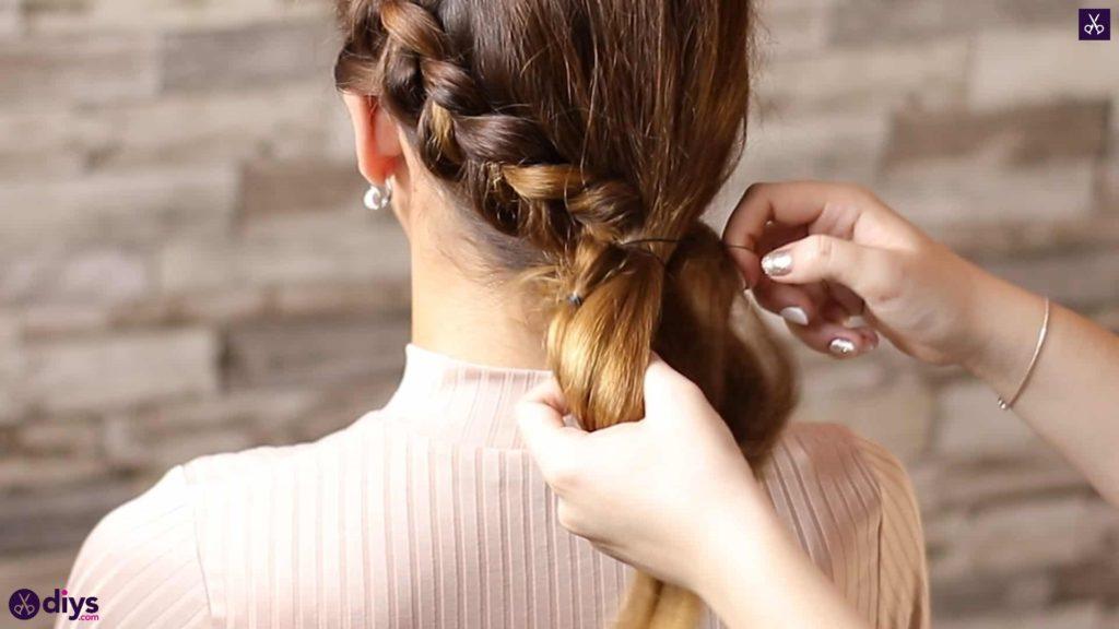 Elegant side braid hairstyle step 7d