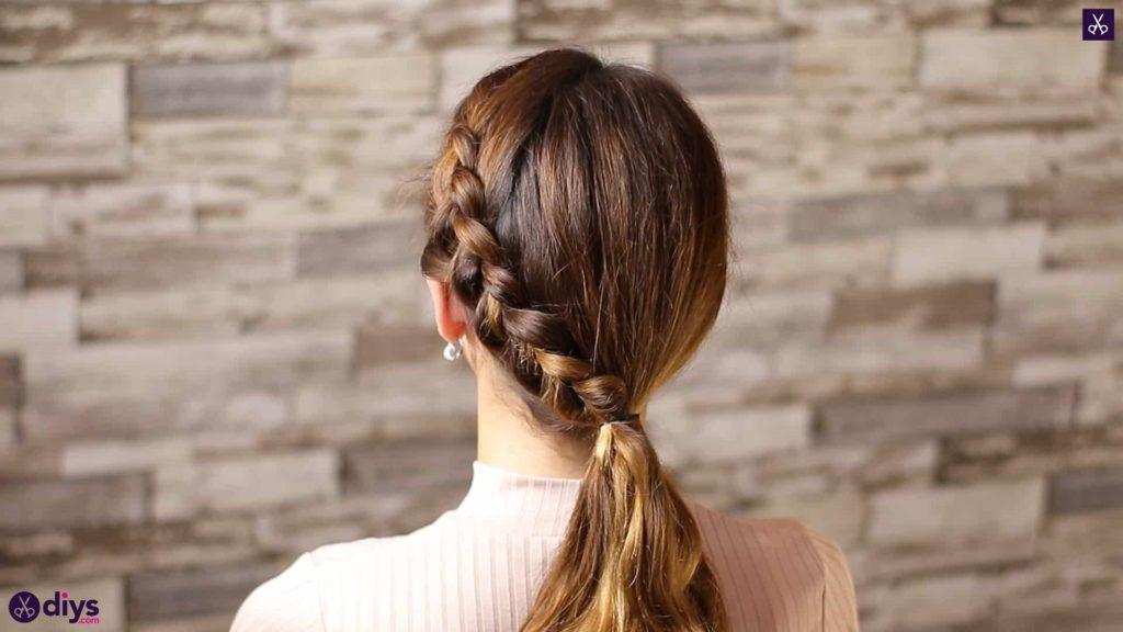 Elegant side braid hairstyle step 7f