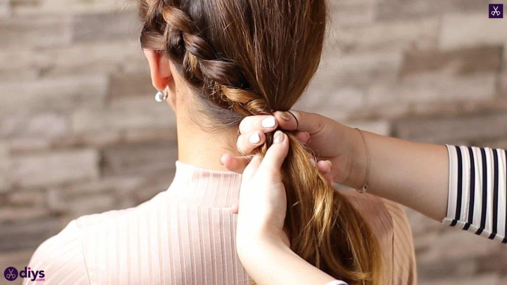 Elegant side braid hairstyle step 7v