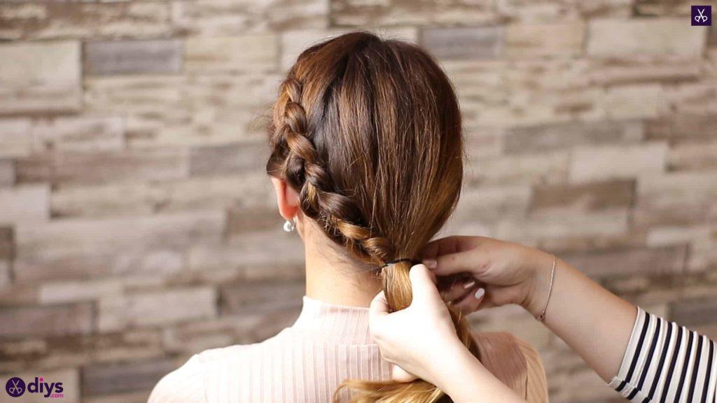 Elegant side braid hairstyle step 8