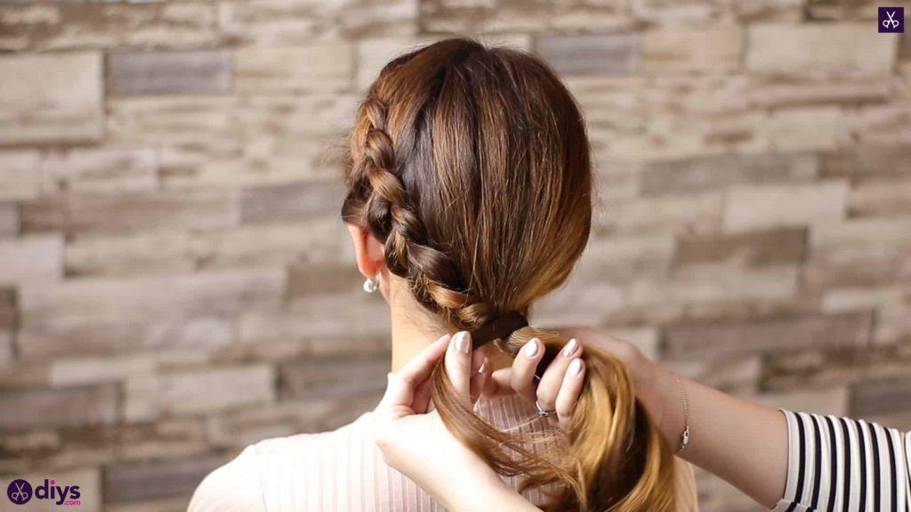 Elegant side braid hairstyle step 8a