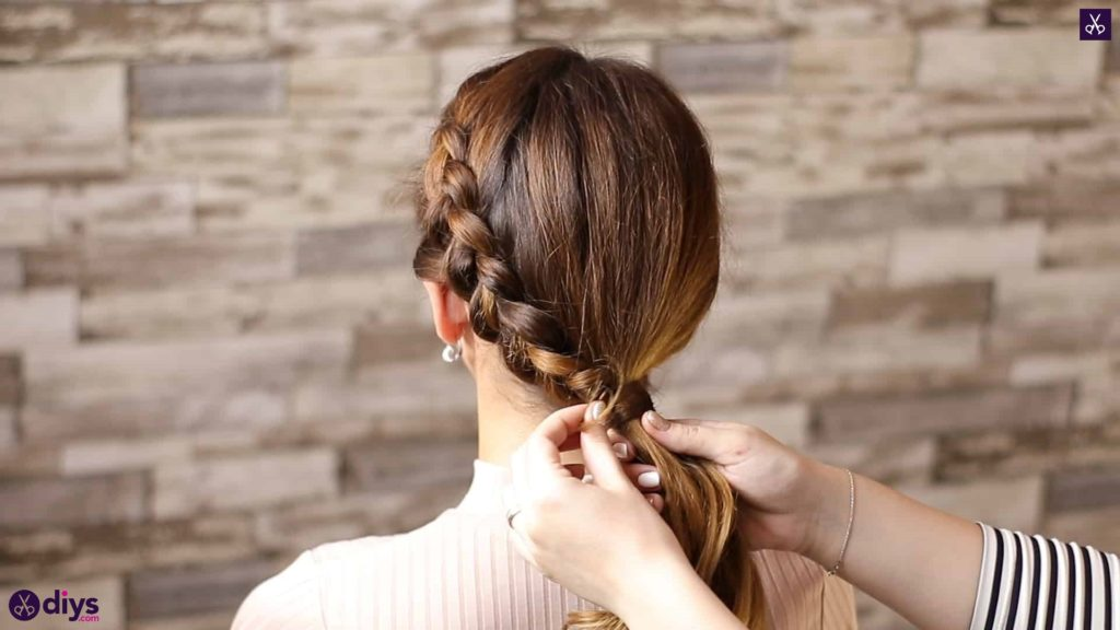 Elegant side braid hairstyle step 8b