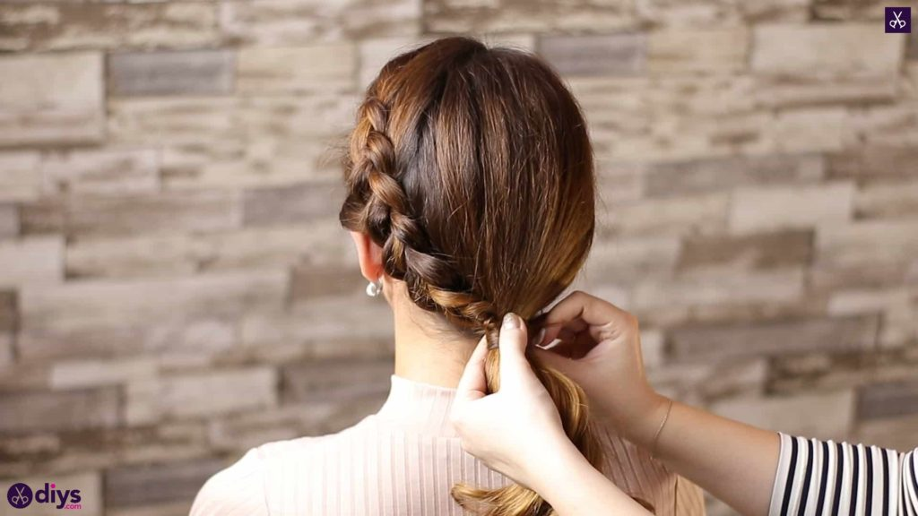 Elegant side braid hairstyle step 8c