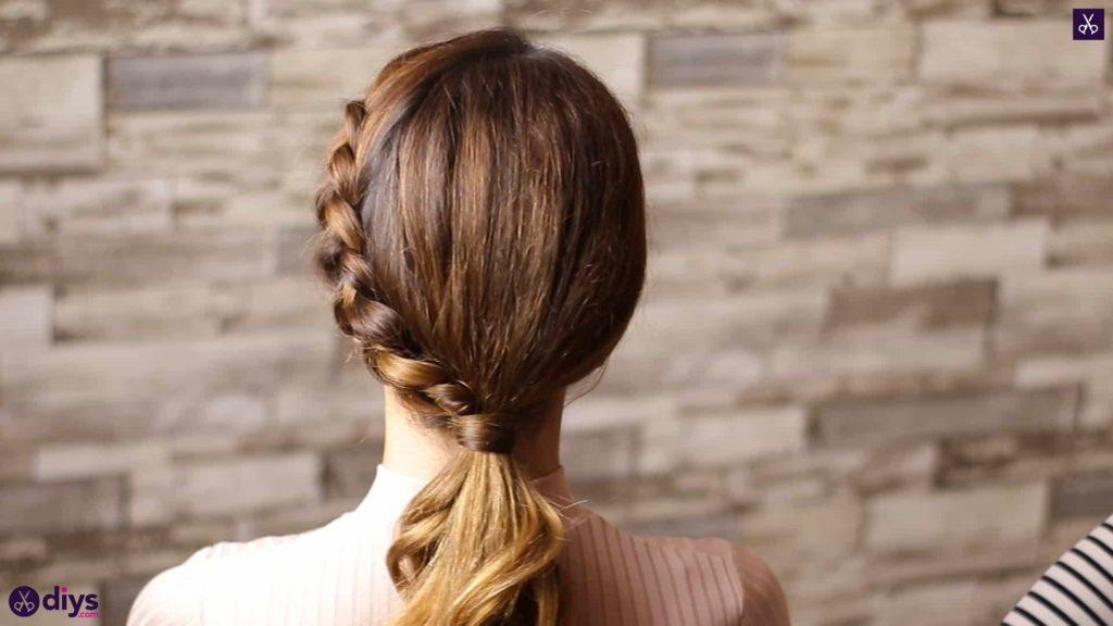 Elegant side braid hairstyle step 8d