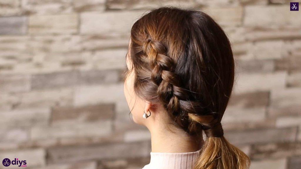 Elegant side braid hairstyle step 8e