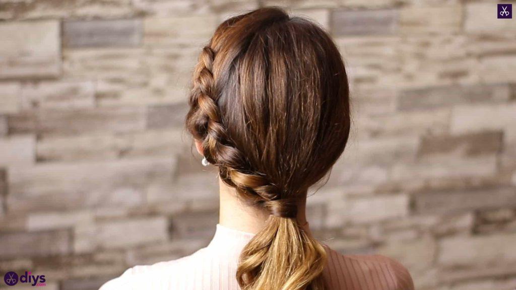 Elegant side braid hairstyle step 8f
