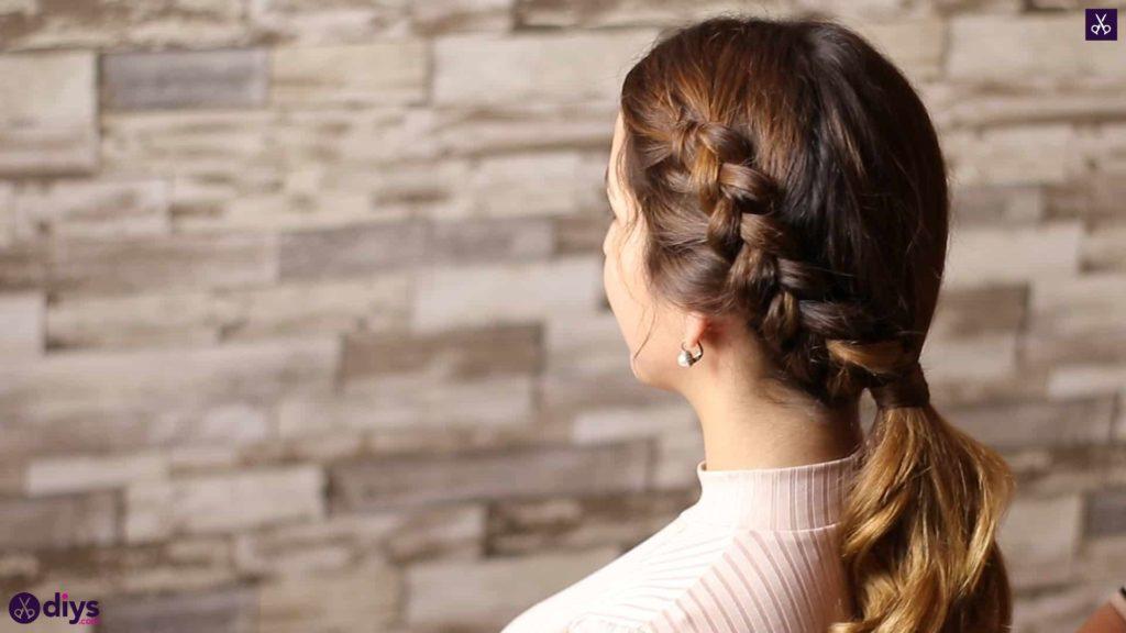 Elegant side braid hairstyle step bc