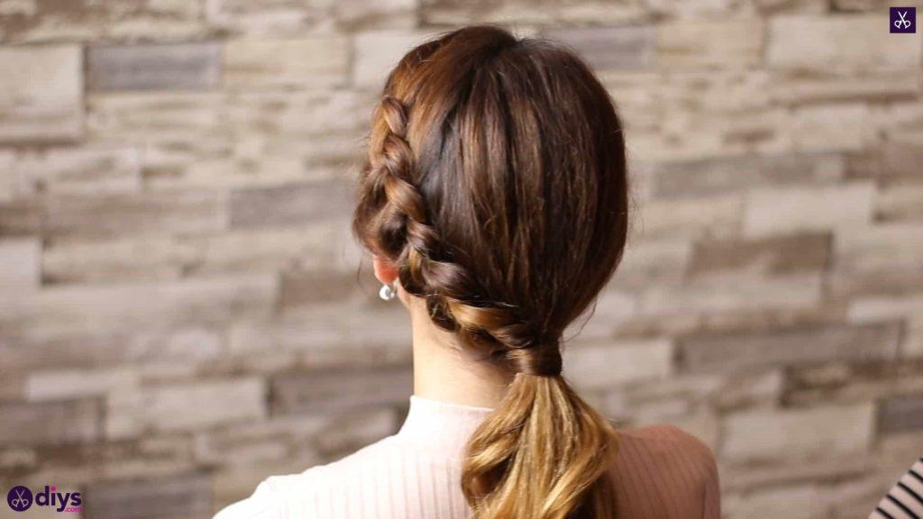Elegant side braid hairstyle step ed