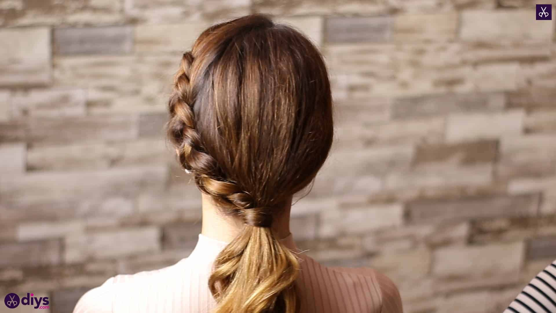 Elegant side braid hairstyle step fds