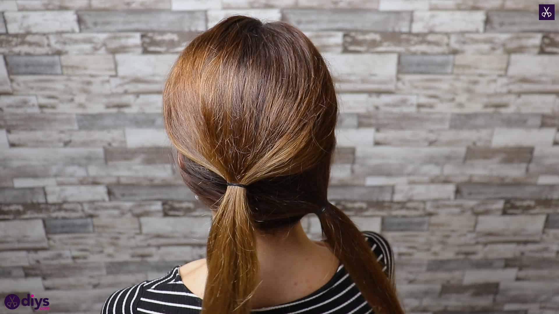 Elegant and easy wedding bun hairstyle for guests step 1f