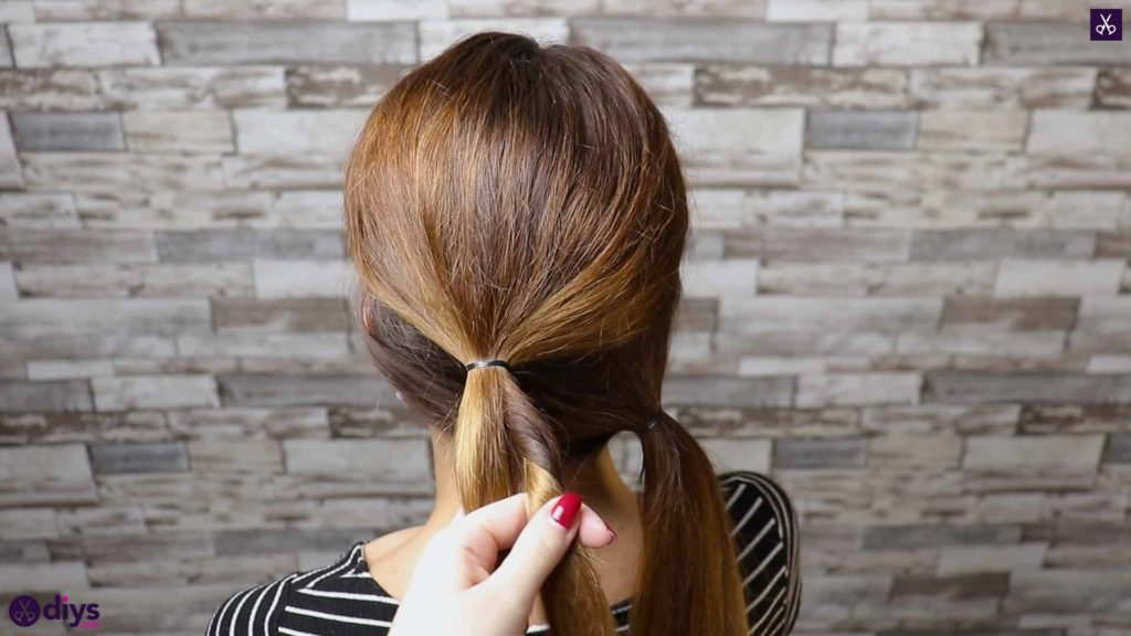 Elegant and easy wedding bun hairstyle for guests step 2