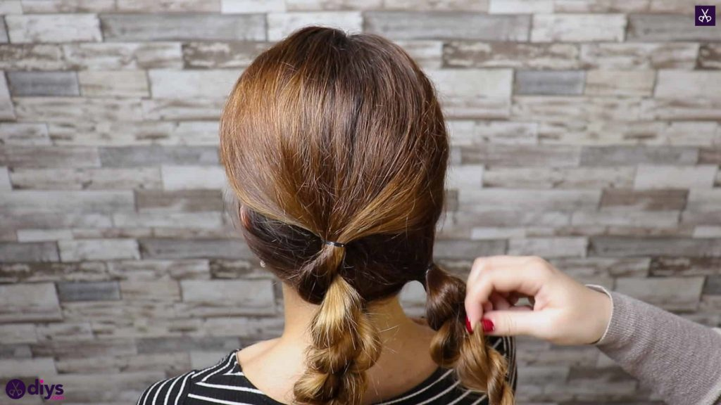 Elegant and easy wedding bun hairstyle for guests step 2e