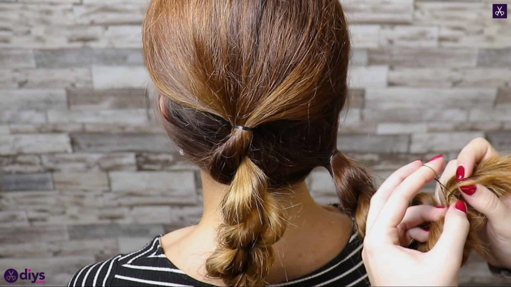 Elegant and easy wedding bun hairstyle for guests step 2f