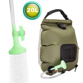 Fechix solar shower bag for camping