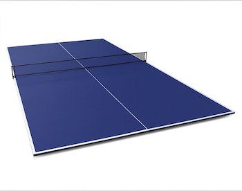 Fran store foldable table tennis conversion top with foam backing and net set