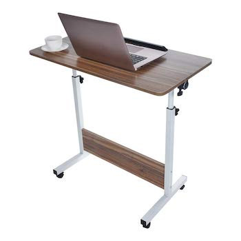 Gxok adjustable foldable laptop table bed tray