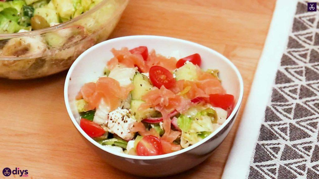 Greek style salmon salad