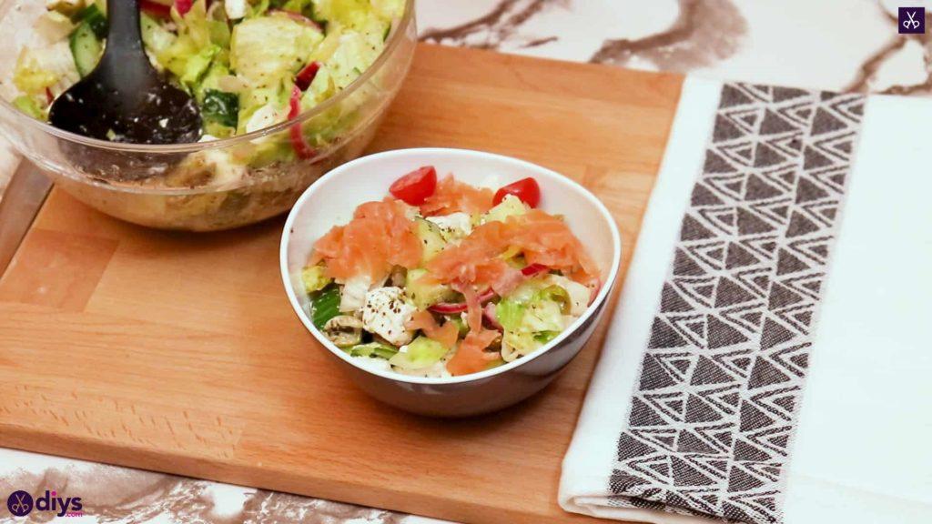Greek style salmon salad delicious