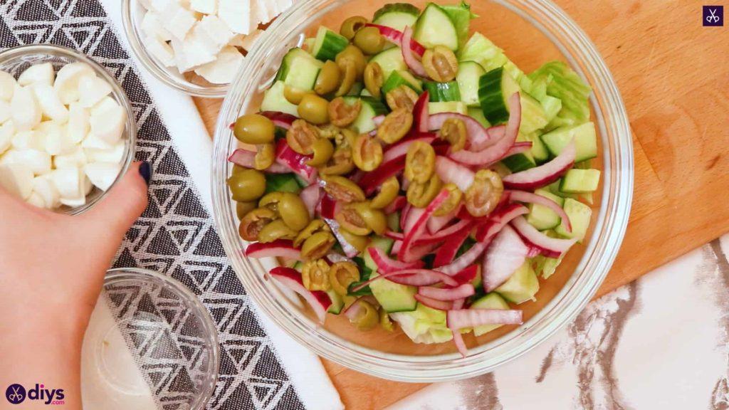 Greek style salmon salad mix