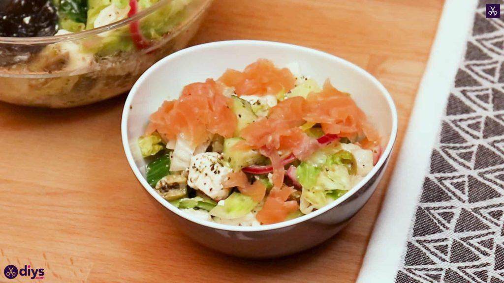 Greek style salmon salad recipe