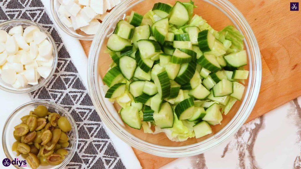 Greek style salmon salad step 5