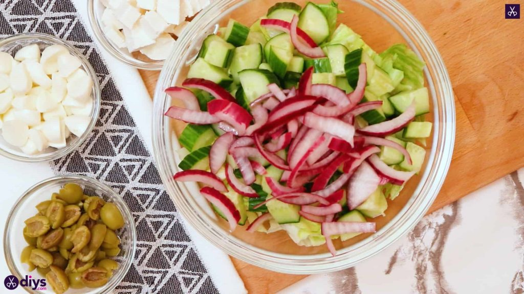 Greek style salmon salad step 5a