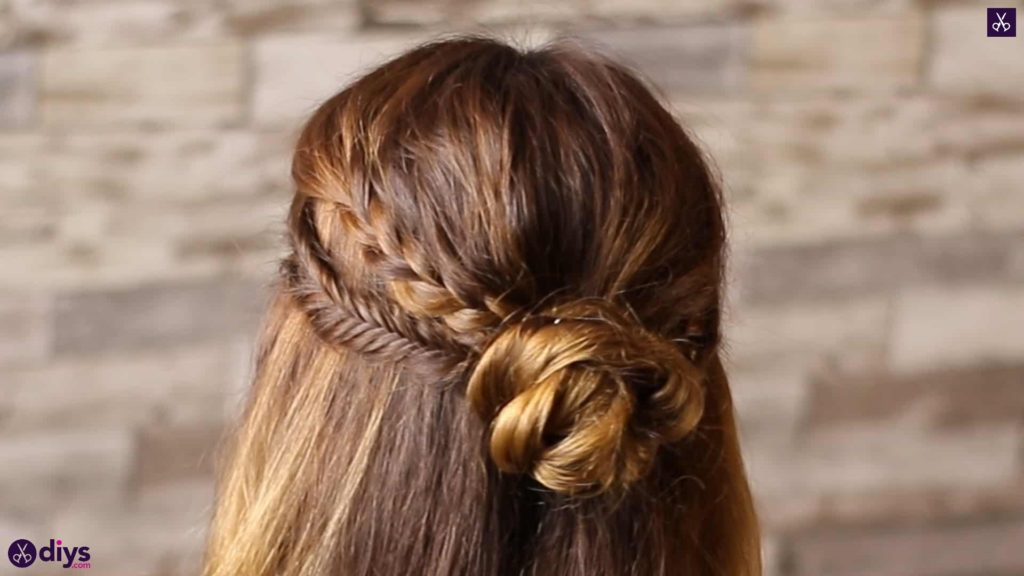 Half up, half down hairstyle for spring