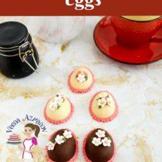 Homemade marzipan easter eggs