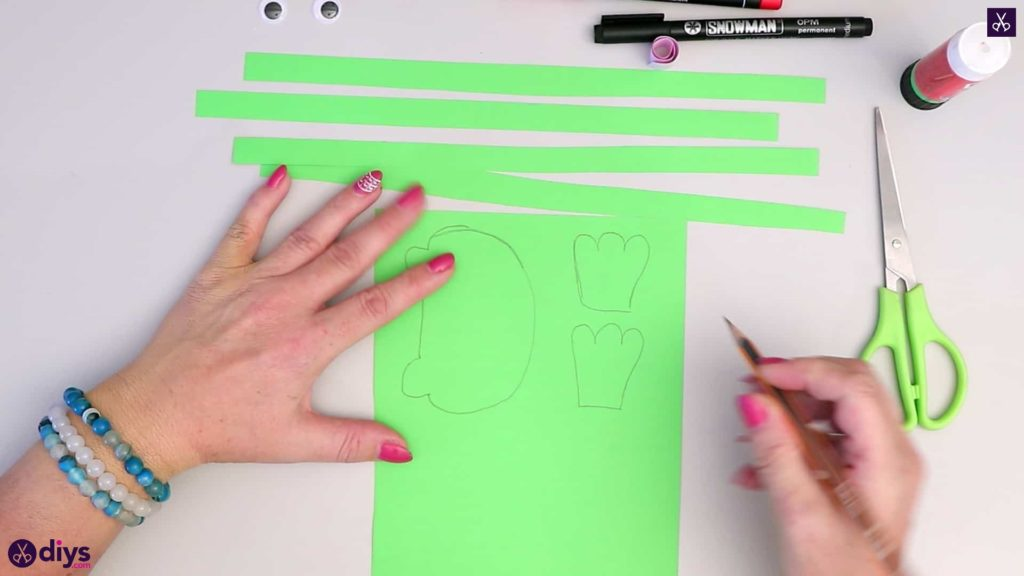 How to make paper frog draw