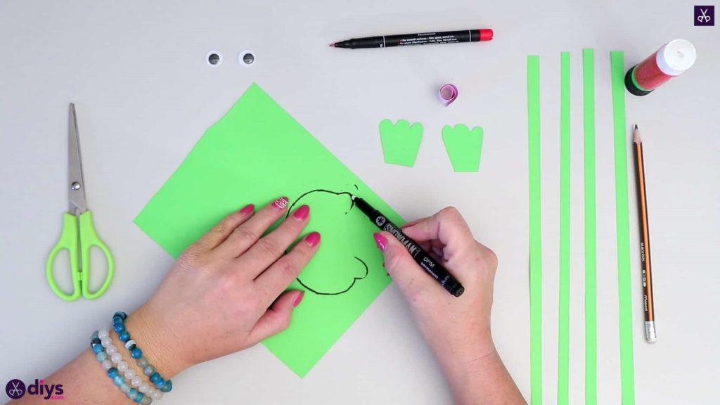 نحوه ساخت نشانگر قورباغه کاغذی