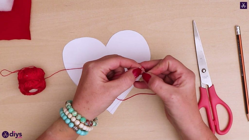 How to make a heart pillow step 3