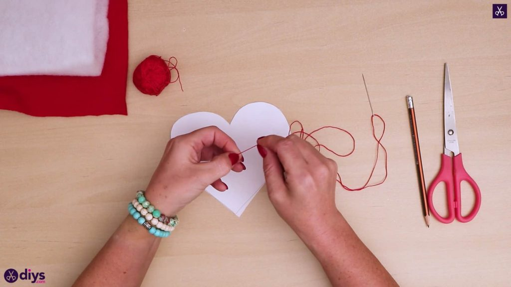 How to make a heart pillow step 3a