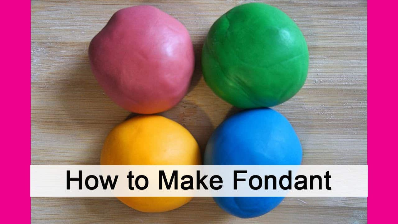 How to make colourful fondant