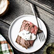 Instant pot herbed prime rib roast with horseradish cream
