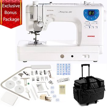 Janome memory craft 6300p sewing and embroidery machine