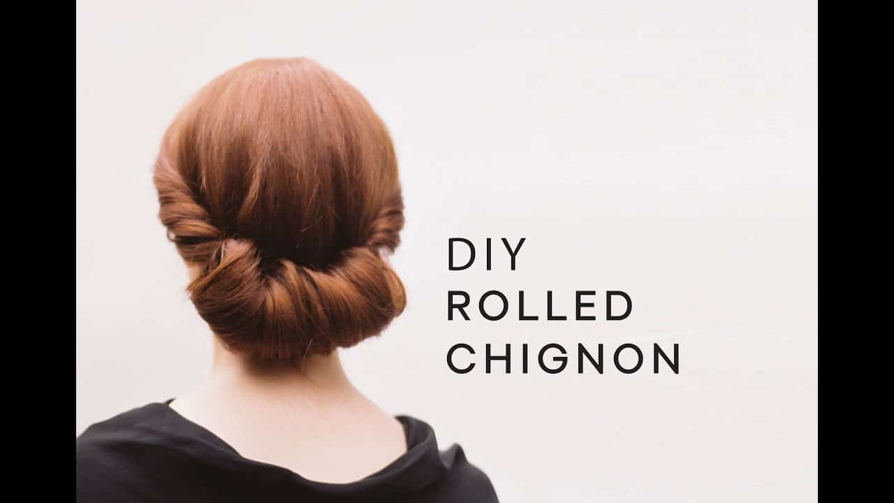 Lovely rolled chignon