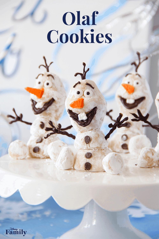 Marzipan olaf cookies