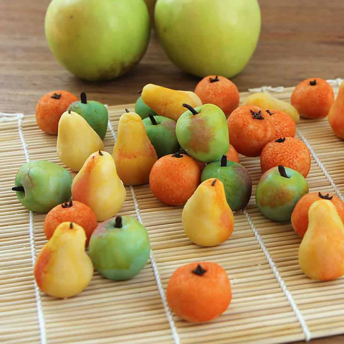 Marzipan orchard fruit