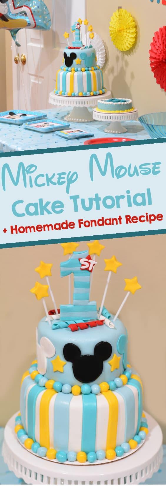 Mickey mouse fondant details cake