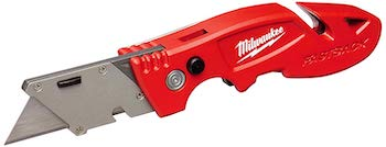 Milwaukee 48 22 1903 fastback 3 utility knife with 4 blade storage, wire stripping compartment, and gut hook
