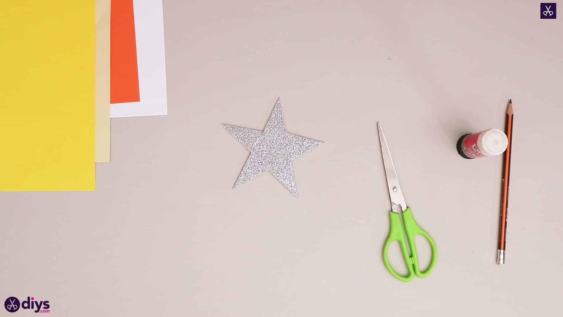 Paper candle on a star cutting