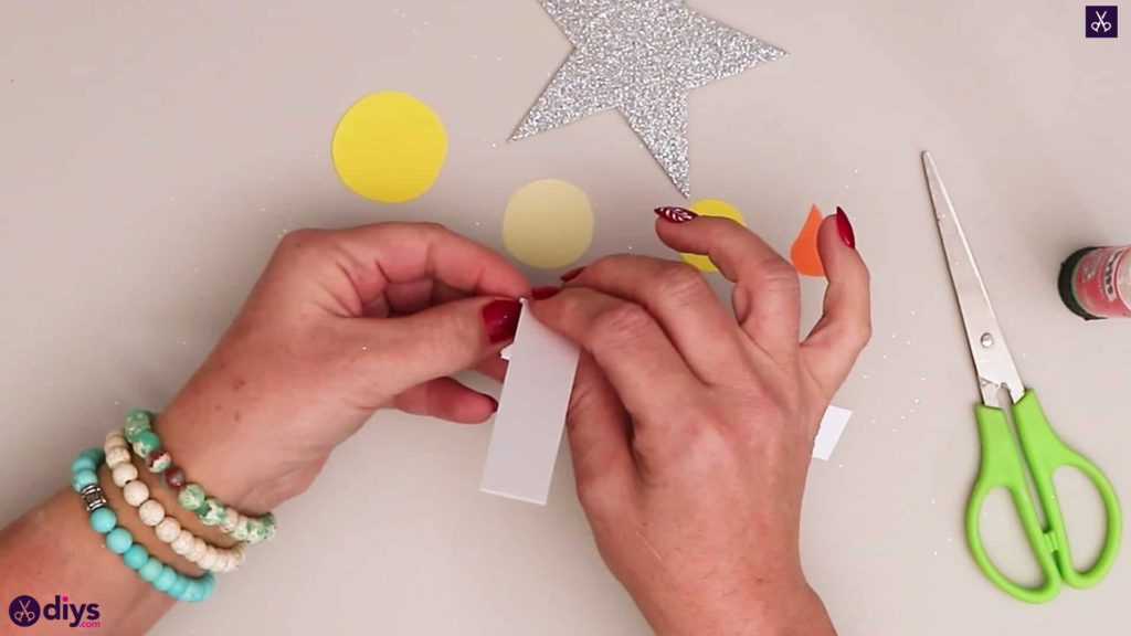 Paper candle on a star diy
