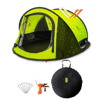 Pop up tent, zenph automatic 2 3 persons family camping tent