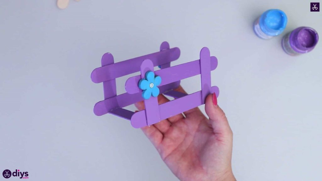 Popsicle stick napkin holder