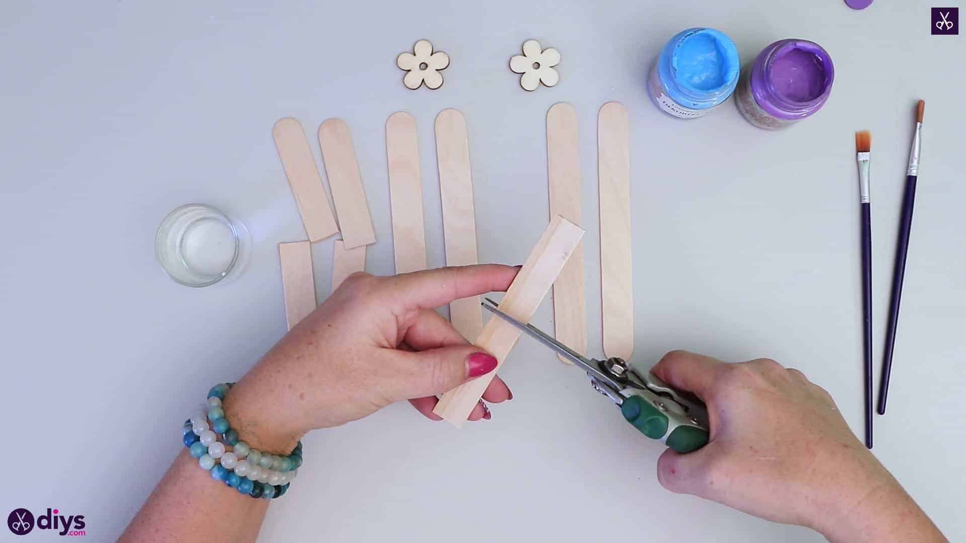 Popsicle stick napkin holder glue