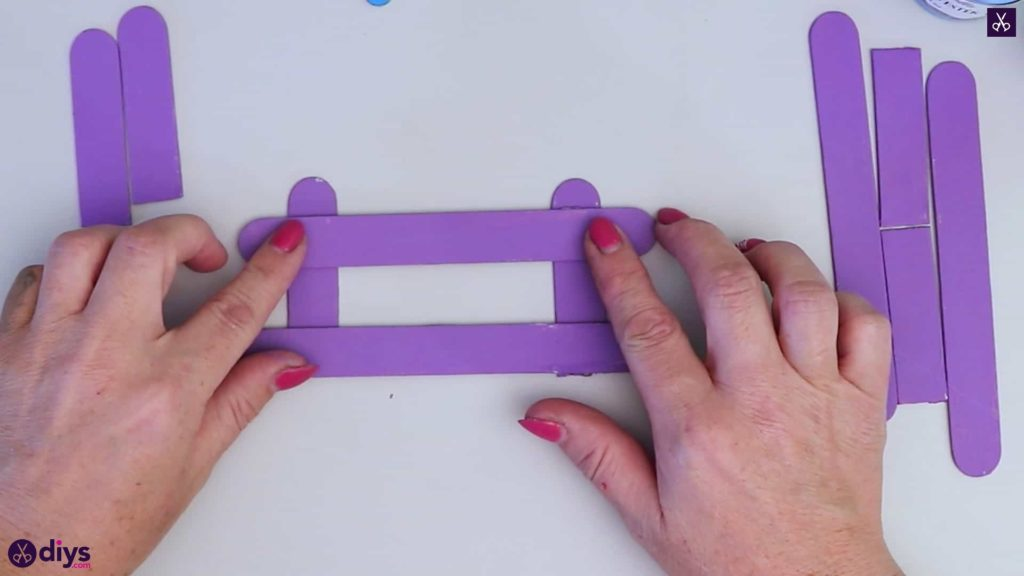 Popsicle stick napkin holder press