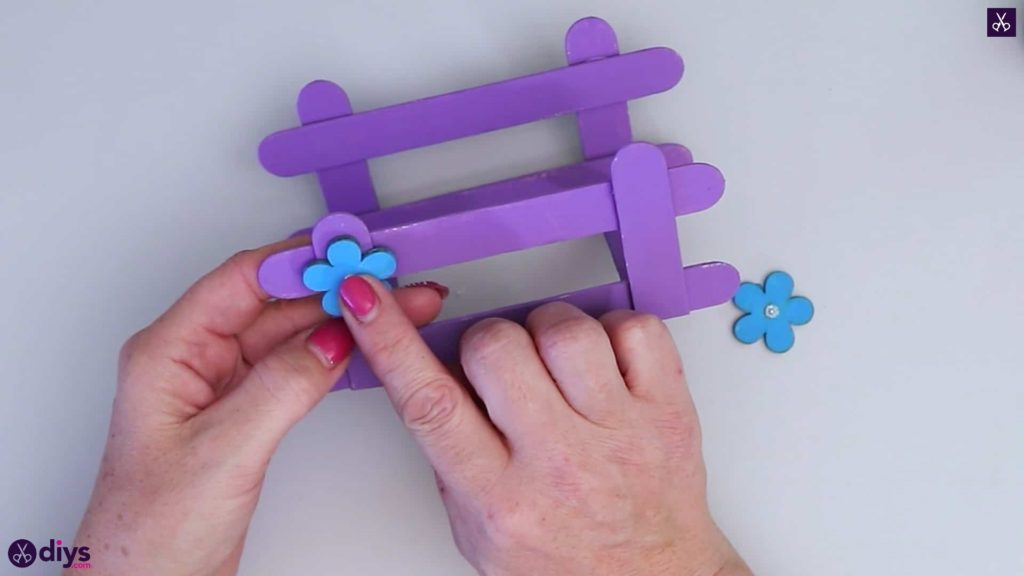 Popsicle stick napkin holder press flower